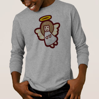 Cute and Simple Christmas Angel | Sleeve Shirt