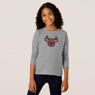 Cute and Simple Rudolf Reindeer | Sleeve Shirt