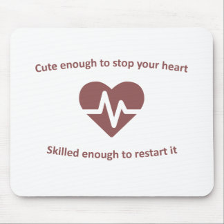 Cute and skilled nurse design mouse pad