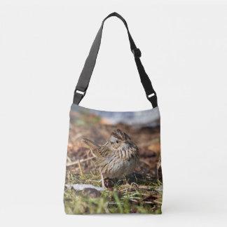 Cute and Spunky Lincoln's Sparrow Crossbody Bag