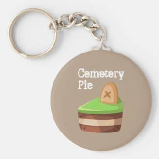 Cute and Sweet Cemetery Pie Basic Round Button Keychain