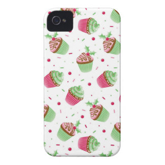 Cute and sweet Christmas colored cupcakes iPhone 4 Cover