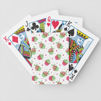 Cute and sweet Christmas colored cupcakes Poker Deck