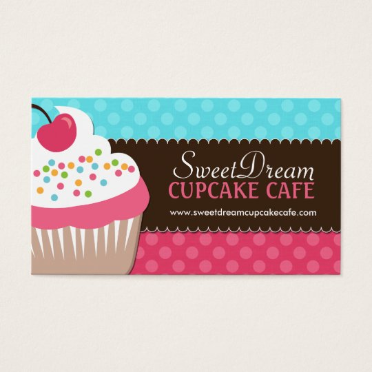 Custom Cupcake Business Cards Zazzle Ca