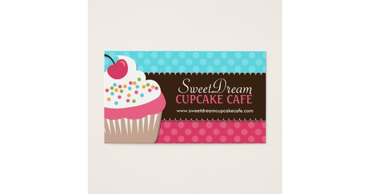 Cupcake Business Cards - Business Card Printing   Zazzle CA