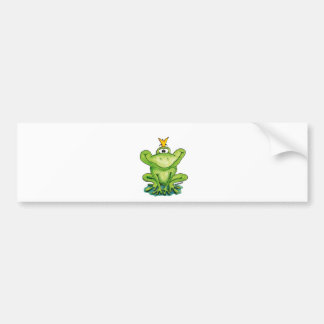 Cute and whimsical Frog Prince by Gerda Steiner Bumper Sticker