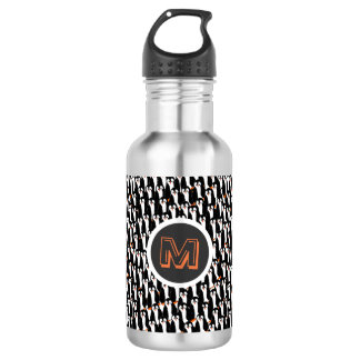 Cute and Whimsical Piles of Penguins Monogram 532 Ml Water Bottle