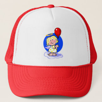 Cute Angel And Red Balloon Trucker Hat