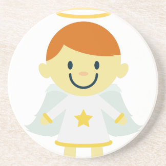 Cute Angel Boy with Halo Drink Coasters