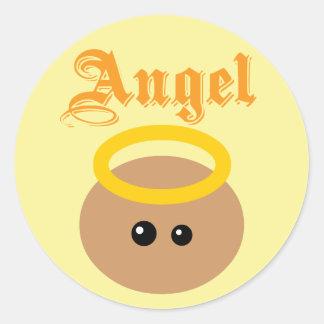 Cute Angel Classic Round Sticker