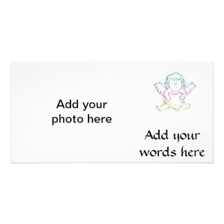 Cute Angel Hugging a Heart Personalized Photo Card