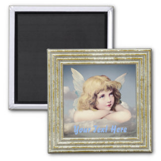 Cute Angel In The Clouds Magnet