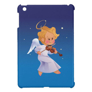 Cute angel playing violin iPad mini cover