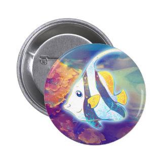 Cute Angelfish 2 Inch Round Button