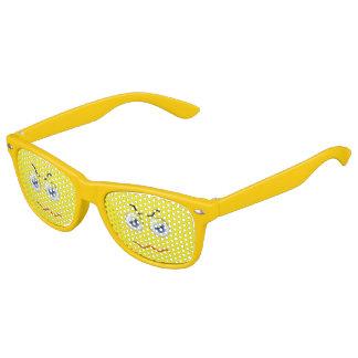 Cute Angry Emoji Yellow Kids Sunglasses