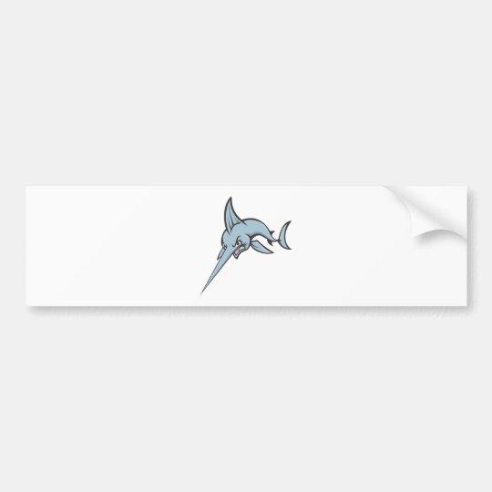 Cute Angry Mad Swordfish Custom Shirt Bumper Sticker
