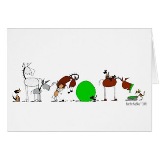 Cute Animal Cartoon Card