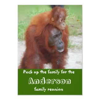 "Cute Animal  Family Reunion 5"" X 7"" Invitation Card"