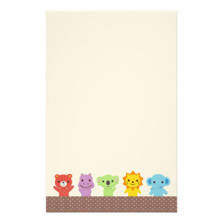 Cute Animal Friends Stationery