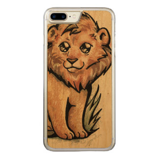 Cute Animal:  Lion Carved iPhone 8 Plus/7 Plus Case