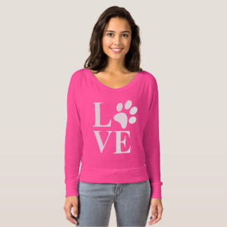 Cute Animal Lover Pet Paw Heart T-shirt