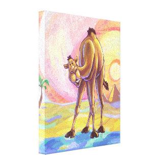 Cute Animal Parade Camel Art Canvas Print