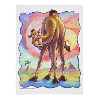 Cute Animal Parade Camel Art Perfect Poster