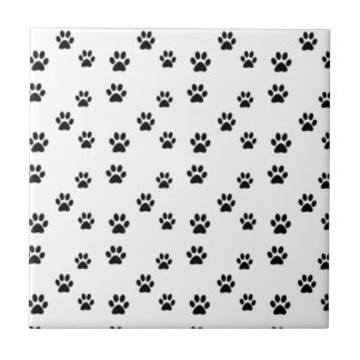 Cute animal paw prints design tile