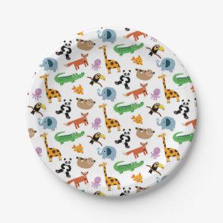 Cute Animal Print Paper Plate