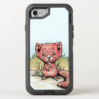 Cute Animal:  Red Panda OtterBox Defender iPhone 8/7 Case