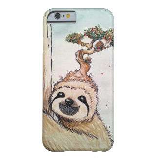 Cute Animal Sloth with Bonsai Tree house Barely There iPhone 6 Case