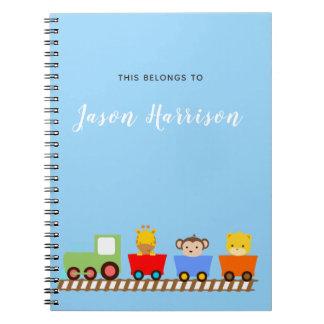 Cute Animal Train Notebook