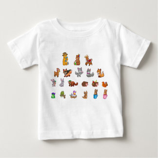 Cute Animals Baby T-Shirt