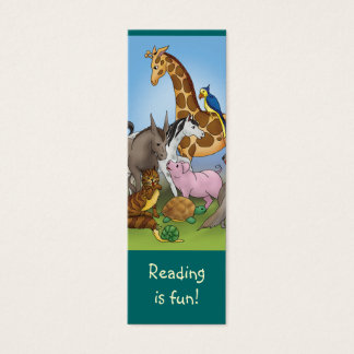 Cute Animals bookmark for young books lovers! Mini Business Card
