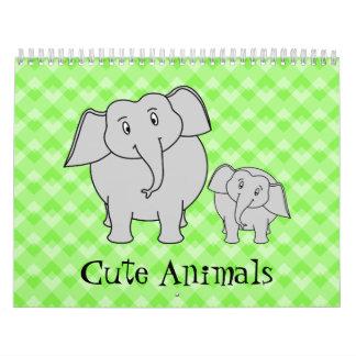 Cute Animals Calendar 2014.