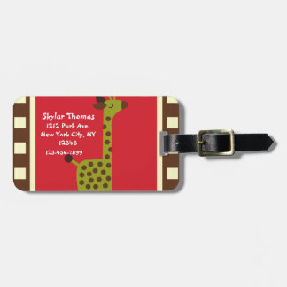 Cute Animals Giraffe Luggage Tag