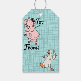 Cute Animals Just Gotta Dance - Personalized Pack Of Gift Tags