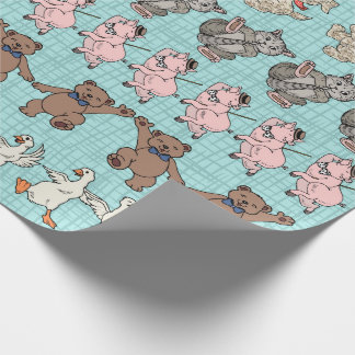 Cute Animals Just Gotta Dance Wrapping Paper