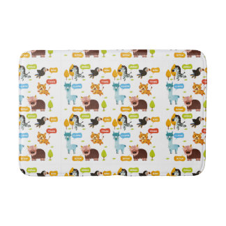 Cute Animals Kids Pattern Bath Mat
