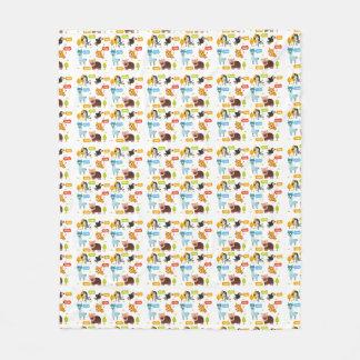 Cute Animals Kids Pattern Fleece Blanket