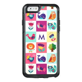 Cute Animals Monogram OtterBox iPhone 6/6s Case
