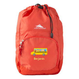 Cute Animals on the School Bus | Personalized Name Backpack