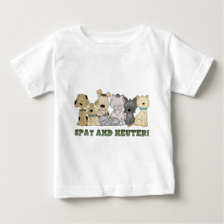 Cute Animals Spay and Neuter Text Baby T-Shirt