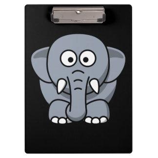 Cute animated Elephant Clipboard