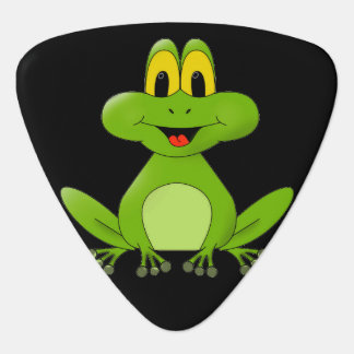 Cute animated Frog background Guitar Pick