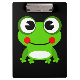Cute animated frog clipboard
