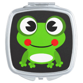 Cute animated frog compact mirrors