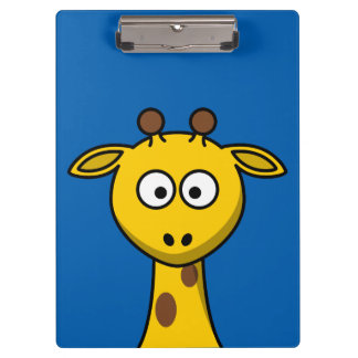 Cute Animated Giraffe Clipboards