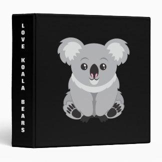 Cute animated Koala Bear background Vinyl Binder