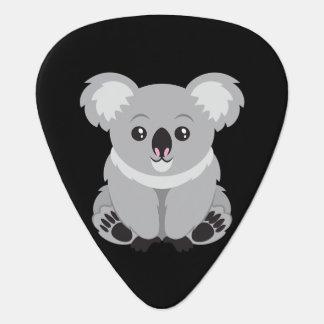 Cute animated koala bear guitar pick